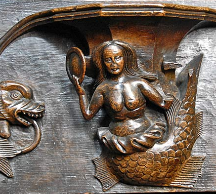 Mermaid carving